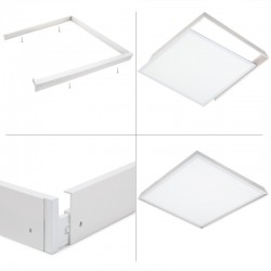 Led-Panel Slim 60x60cm 36W 3623lm + Aufputz-Kit