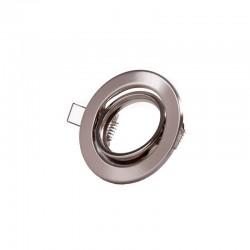 """Kippender runder Downlight-Ring \""""Vepa\"""" Stahl 90mm - Satin"""