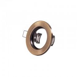 """Runder Downlight-Ring \""""Sara\"""" Stahl 81mm - Messing"""