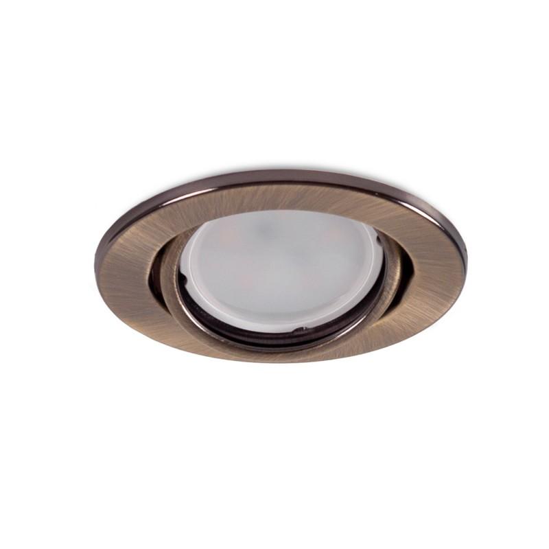 "Kippender runder Downlight-Ring \""Vepa\"" Stahl 90mm - Messing"