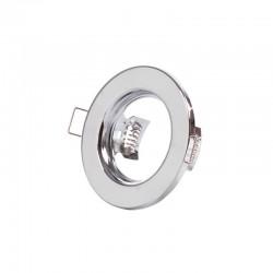 "Runder Downlight Ring \""Sara\"" Stahl 81mm - Chrom"