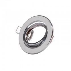 """Kippender runder Downlight-Ring \""""Vepa\"""" Stahl 90mm - Chrom"""