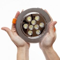 Downlight-LED Ecoline Runden 9W 900Lm 30.000H