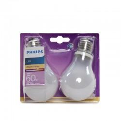 Die Glühbirne LED Philips E27 A60 7W 806LmWarmweiß (2 Stücke)