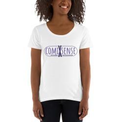 Damen T-Shirt mit U-Ausschnitt