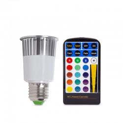 LED-Glühbirne RGB 5W E27 Fernbedienung