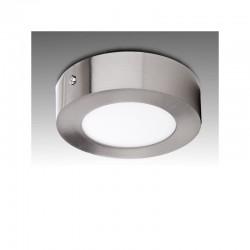 Deckenleuchte LED Runden Ø120Mm 6W 430Lm 50.000H Nickelsatin