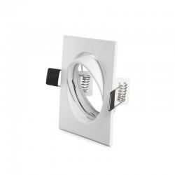 Kippbarer Downlight-Ring Quadrat AluminiumWeiß 83/83Mm