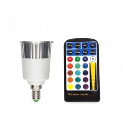 LED-Glühbirne RGB 5W E14 Fernbedienung